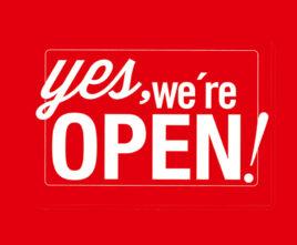 We zijn weer open!